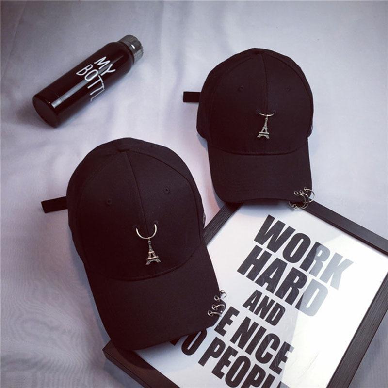2016 Unisex Solide Ring Sicherheitsnadel Gebogene Hüte Baseball Cap Männer Frauen Hysteresenkappen Fashion Casquette Gorras Hip Hop Cap Attraktiv Und Langlebig