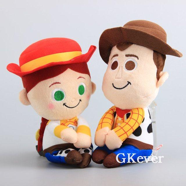 Cartoon 2 Styles Toy Story Cowboy Sheriff Woody Jessie Plush Dolls