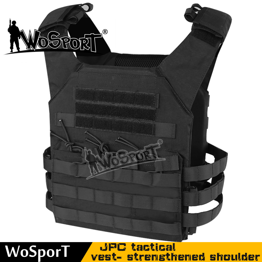 ФОТО WoSporT New Tactical Plate Carrier Ammo JPC Vest Airsoft Paintball toy gun game SWAT Gear Shoulder strap Improvement version