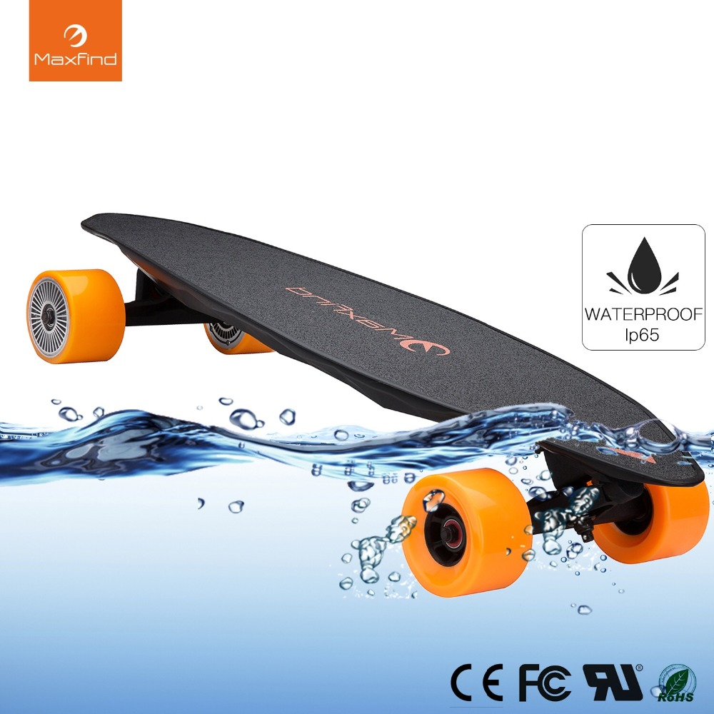 Electric Skateboard Max 2, Wireless Remote Controller With COOL 4 Wheel Electric Skateboard
