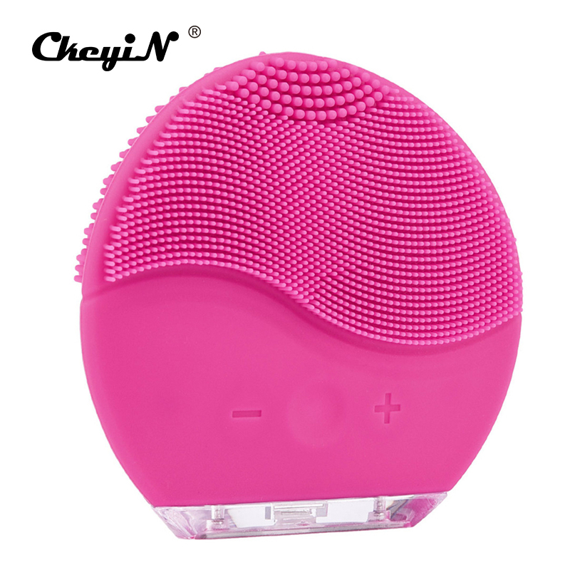 Electric Facial Cleaning Brush Washing Machine Waterproof Silicone Sonic Vibration Face Cleaner Skin Care Massager Beauty Device цена и фото