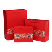 5pcs Free Shipping Chinese Red New Year Gift Box Bag Portable Suitable For Party Visiting