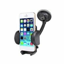 Выдвижной держатель для телефона на присоске для приборной панели автомобиля держатель для крепления на лобовое стекло с трубкой на шею Кронштейн для мобильного телефона