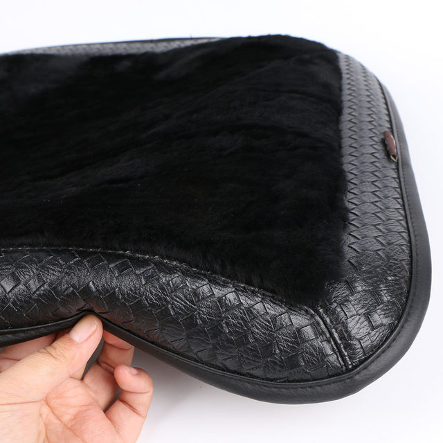 Sale Cashmere Car Seat Covers Single Without Backrest Elegant Auto Sheepskin Fur Cover For Front