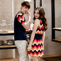 KJ289 Couple T Shirt For Lovers Clothes Men Summer Tees O Neck Casual Fashion Short Sleeve