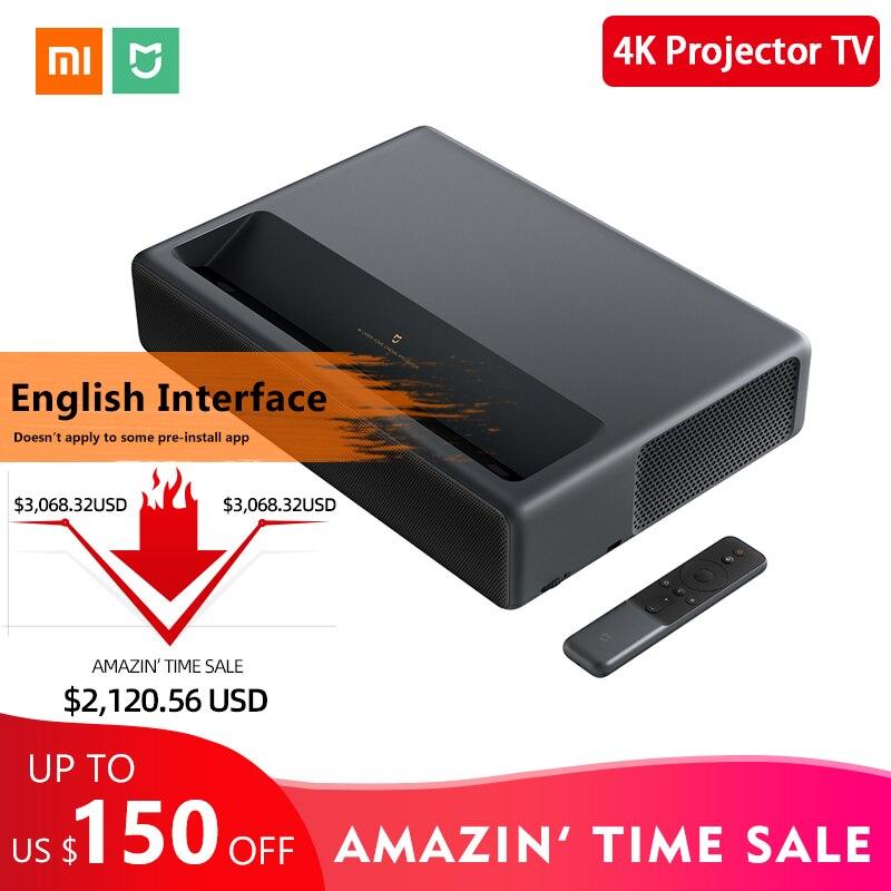2019 Original Xiaomi Mijia 4K Home Theater TV de Projeção A Laser 200 Polegada Wifi 2G RAM 16G Inglês interface Suporte HDR DOLBY DTS