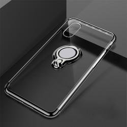Luxury Phone For Clear Case On iPhone X Cover Cases Bags Coque Slim For Silicone Case iPhone X Ring Kickstand Black 4