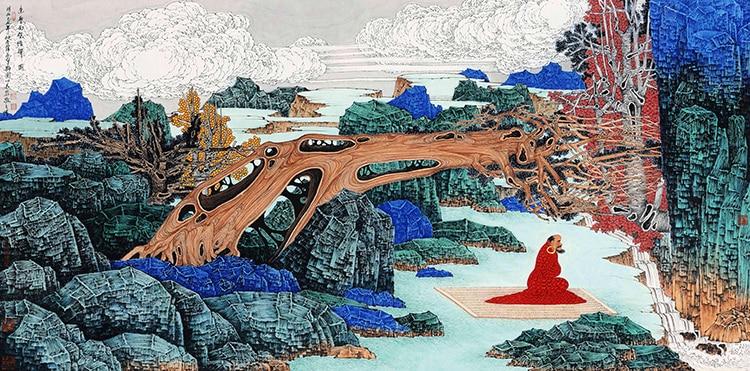 Online buy wholesale buddha wall murals from china buddha for Buddha mural wallpaper