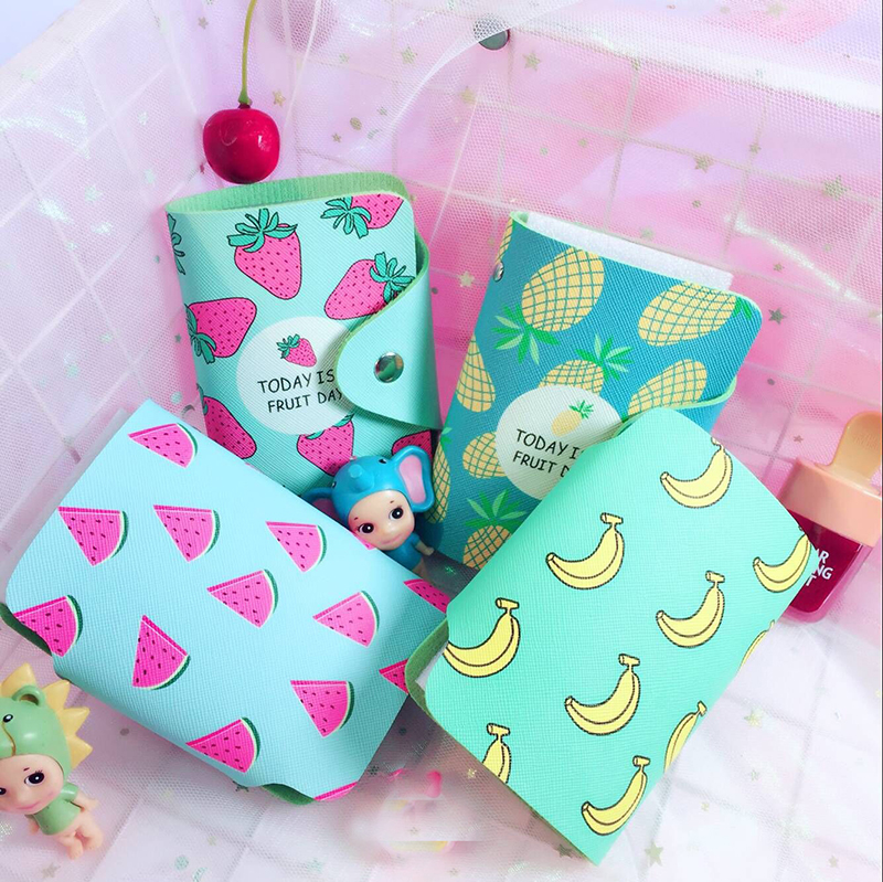 New Style Cute Fruit banana PU Leather Women Credit Card Holder Case ...