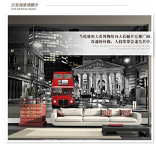 Custom Moder auto wallpaper sticker European red double layer bus personality for Living room sofa 3d TV background wall cloth