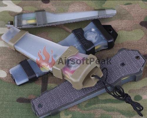 Prix pour Élément Casque Blink Signal Lumineux Deux Modes pour NVG Utilisateur Infrarouge Chasse Militaire Tactique Airsoft Paintball Casque Accessoire-