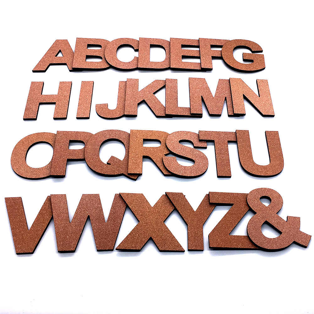DIY 3D Shiny Copper Capital English Letters Wall Stickers Living Room Bedroom Background Wall Home Decor PVC Removable Stickers
