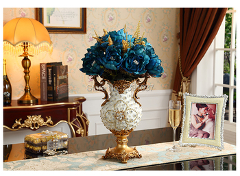 Luxury resin vases Dining Table Vase Decoration, retro European style living room furniture decoration