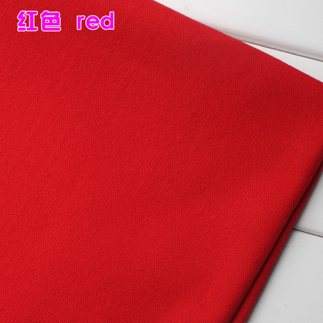 Thick Canvas Red Cotton Duck Fabric 60 Wide Sold By The