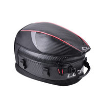 CUCYMA 55L Motorcycle Tail Bags Carbon Fiber PU Waterproof Motocross Motorbike Travel Shoulder Bag MOTO Rear Seat Trunk Pack