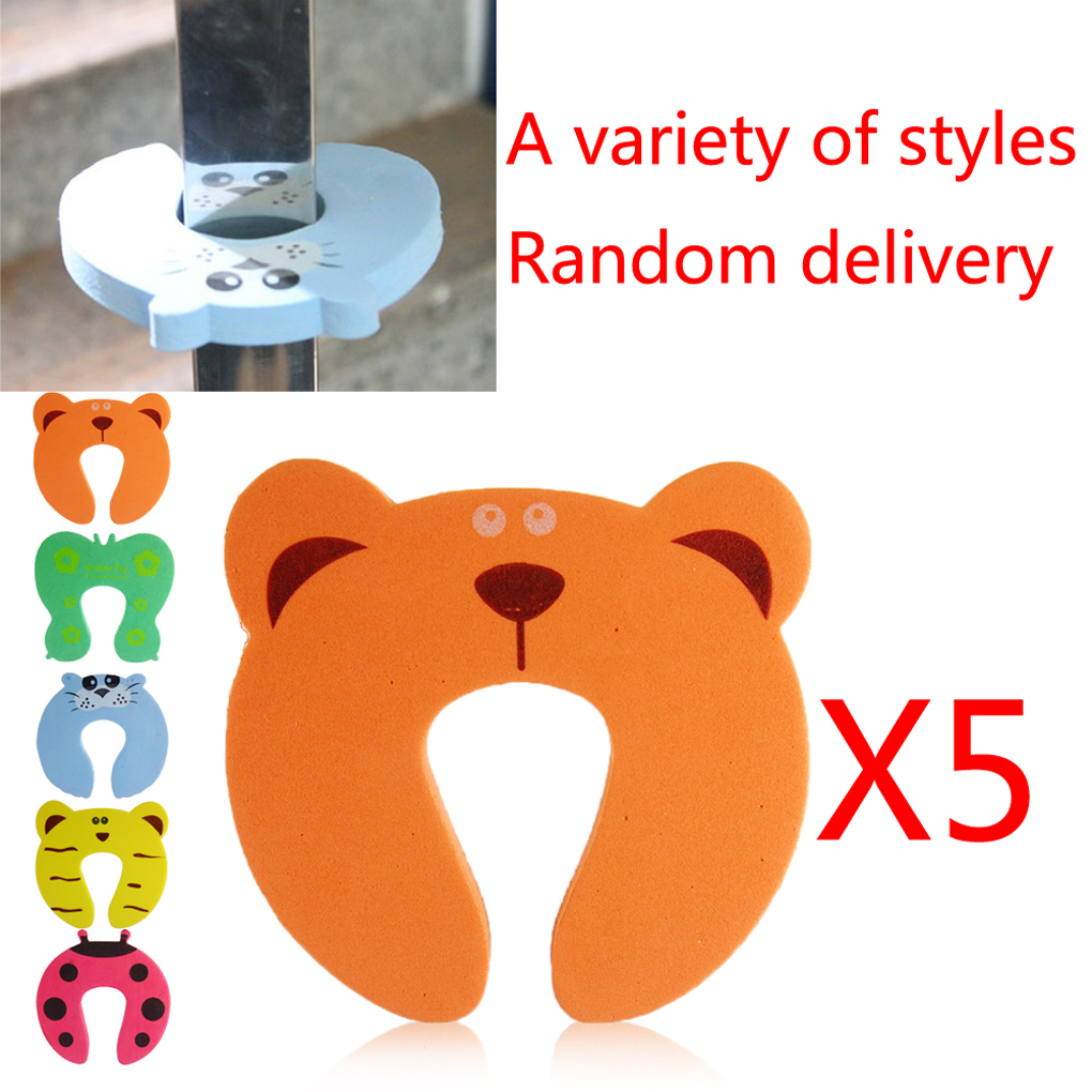 5Pcs Random Color Baby Children Safety Guard Foam Door Stopper Cushion