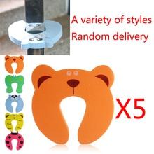 5Pcs Random Color Baby Children Safety Guard Foam Door Stopper Cushion