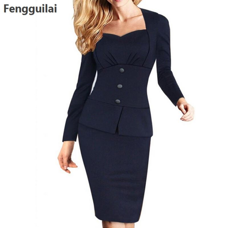 New Arrival Blazer Women Business Suits Formal Office Suits Work Long Sleeve Knee -Length Suits With Skirts 5 Colours