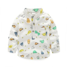 Children Long-Sleeve Shirts Boys Clothes 2016 Spring &Autumn Fashion Cartoon Casual Child Tops Wear Kids Shirts for 2-7 Years