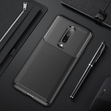Case for Oneplus 7 Case Carbon Fiber Soft Silicone Cover for Oneplus 7 Pro Shockproof Bumper Protective Case on for Oneplus7 1+7