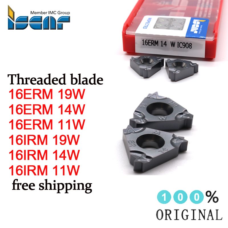 5 x ISCAR 16IRM 11.5NPT IC908 Threading Carbide inserts 16IR 11.5NPT 16IR Business & Industrial