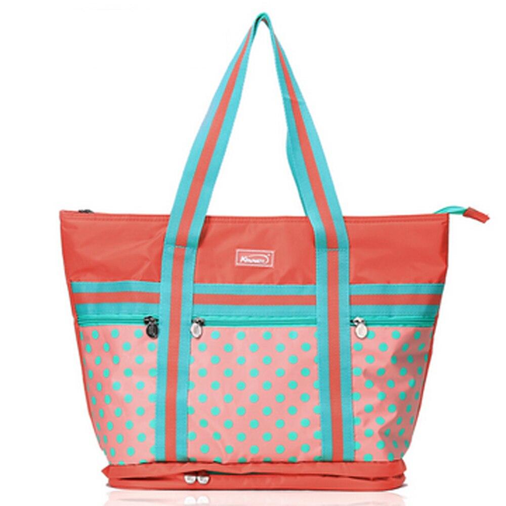 Waterproof Diaper Bag Polka Dot Nappy Bags Large Capacity Changing Bag Tote Cute Nursing Bag Maternity цена