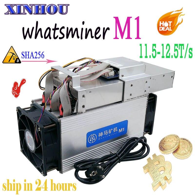Utilisé Asic Bitcoin mineur what sminer M1 11.5-12.5 T/s SHA256 BTC BCH Miner mieux que antminer S9 S9k T9 + Z9 Ebit E9 + E9i T1 T2T