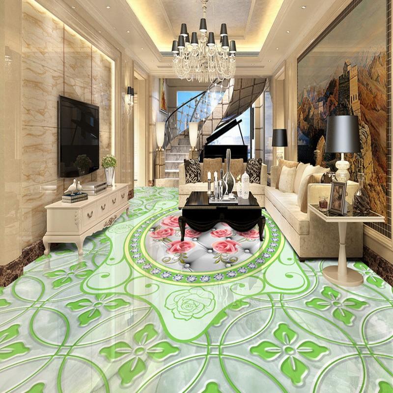 freies verschiffen tapetenbahn boden mural wohnzimmer schlafzimmer badezimmer selbstklebende marmor geprgt rosenmuster 3d bodenbelag - Marmorboden Wohnzimmer