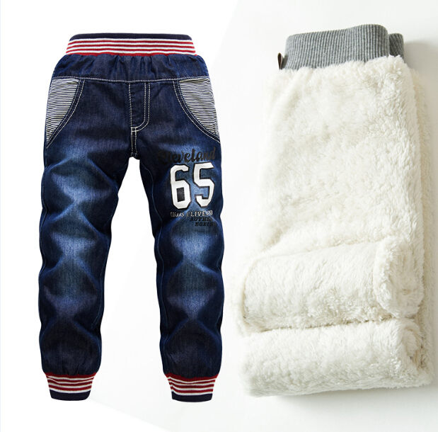 SK075 Children pants thick winter warm cashmere trousers children pants boys babies / girls jeans for 3 - 7 y retails children autumn and winter warm clothes boys and girls thick cashmere sweaters