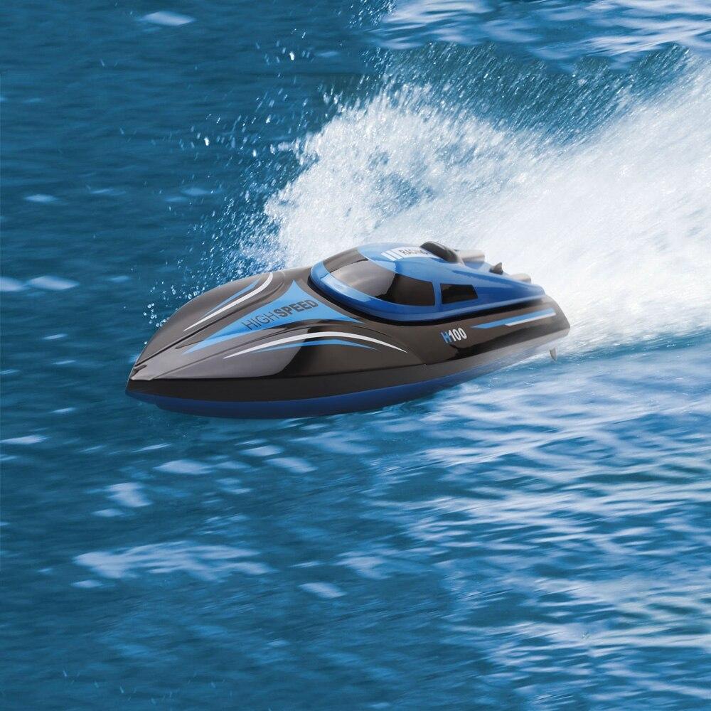 30 км/ч высокое Скорость жестокие H100 2,4 ГГц 4 канала гонки дистанционного Управление лодка с ЖК-дисплей Экран как подарок для детей игрушки дл...
