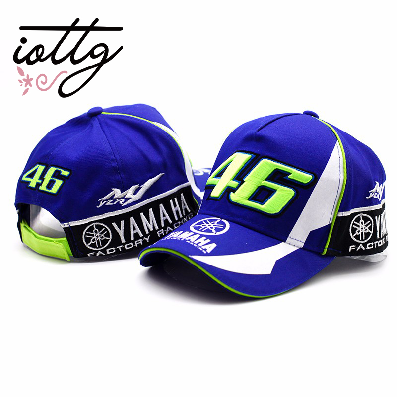 2017 High Quality MOTO GP 46 Motorcycle 3D Embroidered F1 Racing Cap Men Women Snapback Caps Rossi VR46 Baseball Cap YAMAHA Hats