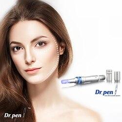 Caneta profissional dr. ultima a6 microneedling caneta kit de ferramentas de cuidados com a pele elétrica sem fio com 2 pces cartucho de agulhas de 12 pinos derma