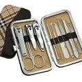 2016 New 10pcs/set Pedicure Set Tweezer Knife Nail Clipper Stainless steel Nail Care Set Kit