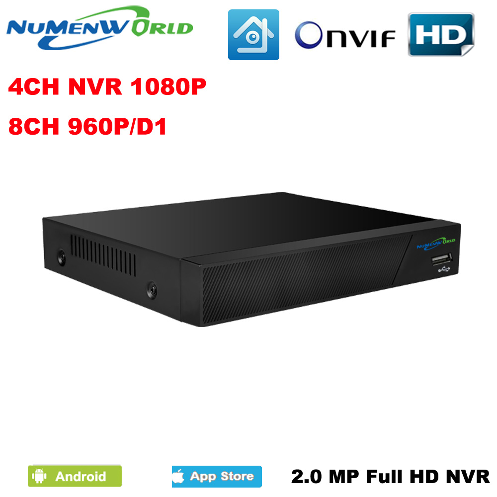 Numenworld 4CH 1080P NVR CCTV Security NVR ONVIF H.264 Network Video Recorder 4 Channel recorder For IP Camera system jivision mini full hd 4 channel security cctv nvr 1080p 4ch onvif 2 0 for ip camera system 1080p h 264 video recorder ip dvr p2p