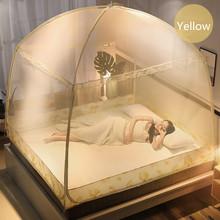Romantyczny liść wzór moskitiera odstraszacz owadów z baldachimem uniwersalny łóżko namiot z siatki gospodarstw domowych przenośne łóżko kurtyny dla dziecko siatki tanie tanio Trzy-drzwi Poliester bawełna Składane Camping OUTDOOR Podróży Domu Dorosłych Mongolski jurta moskitiera kkWZ164 changbvss