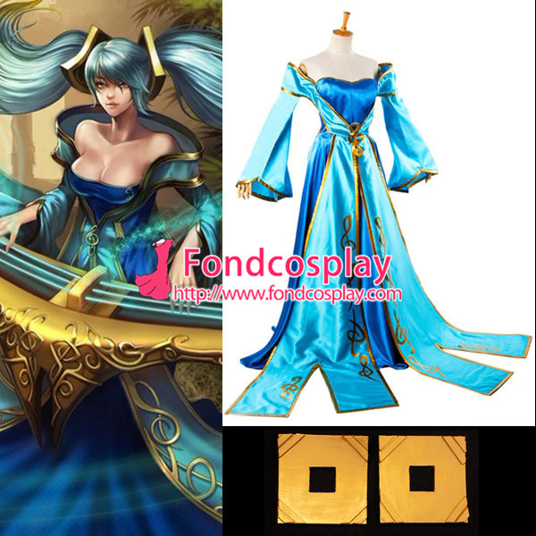 Lol Sona Maven du jeu de robe de cordes Costume Cosplay sur mesure [G933]