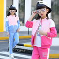 Children Cotton Clothing Sets Spring New 2017 Kids Clothes Girls Long - Sleeved Two - Piece Casual Clothing Sets