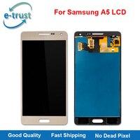 E-güven 10 Adet/grup Için Dokunmatik Ekran LCD Ekran Samsung A5 A500 A500H A500F A500M Digitizer Meclisi Yedek Üst AAA + + Kalite