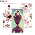 "Floral Case For Oukitel U15 Pro Case 5.5"" Vintage Pattern Transparent Silicone Cover For Oukitel U15 Pro 4g Space Fundas Case"