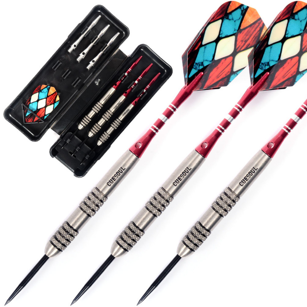 Cuesoul 24 Grams Dart Barrel 95% Tungsten Steel Tip Darts Set cuesoul new tungsten steel tip darts armour series 21 23 grams