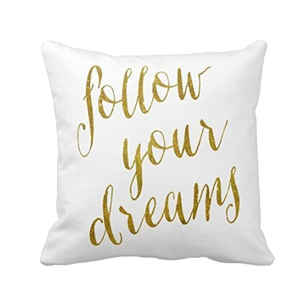 Letters Sofa Bed Home Decoration Festival Pillow Case Cushion Cover Throw Pillow Case Cover for Seat Sofa Square 45x45cm