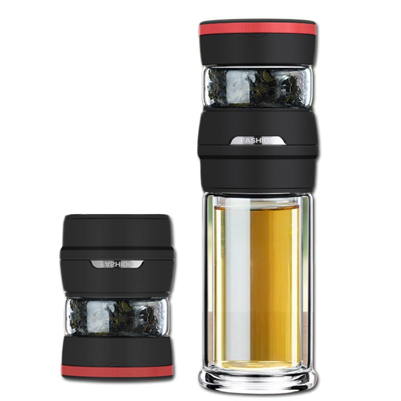 350/450cc Portable Transparent Glass Water Bottle with Stainless Steel Filter Double Wall Glass Magic Teapot TeaCup Drinkware350/450cc Portable Transparent Glass Water Bottle with Stainless Steel Filter Double Wall Glass Magic Teapot TeaCup Drinkware