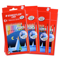 Staedtler Luna 137 10 C12 C24 C36 C48 Water Soluble Colored Pencil Colorful Drawing Pencils Germany