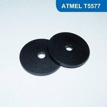 Диаметр: 20 мм RFID Смарт-Тегов, RFID Монета Тег, ПВХ RFID Метки, RFID, Смарт-Жетон 125 КГц с T5577 Chip бесплатная доставка