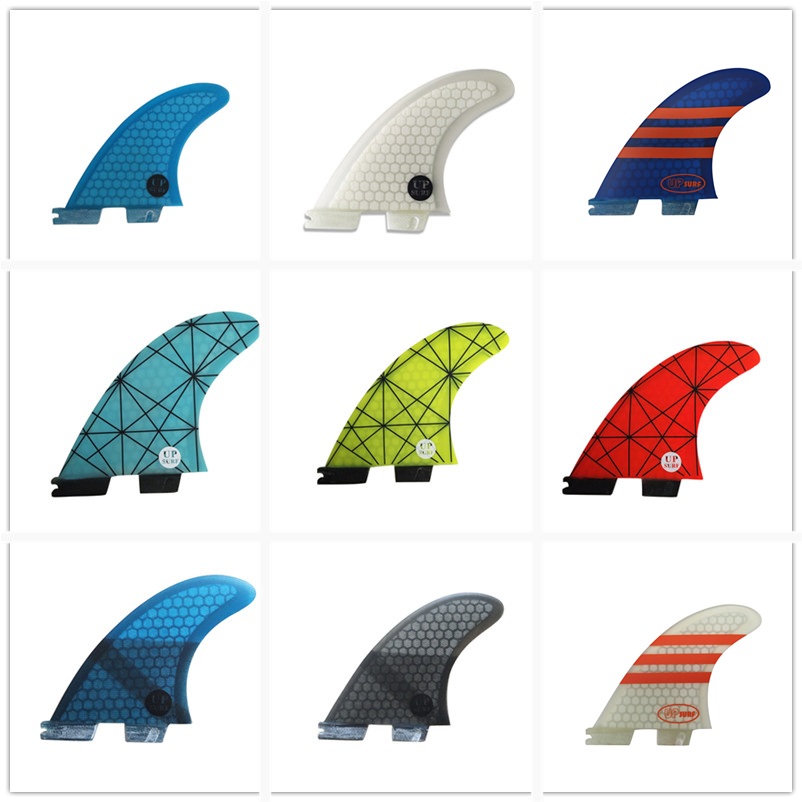 Surf Fins FCS2 G3/G5/G7 Up Surfboard Honeycomb Fins Tri Fin Set Fcs Fin Fibreglass