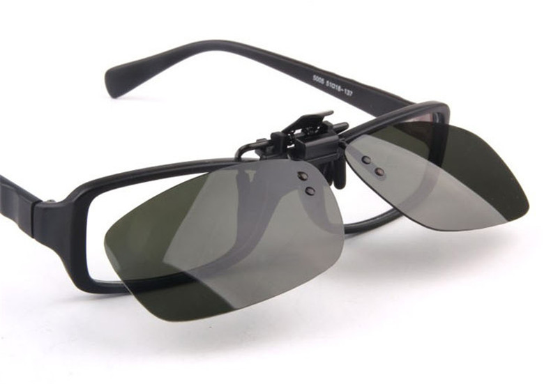 Fashion Frame Sunglasses Clip Brand Polarized Lens Men Women Myopia ...