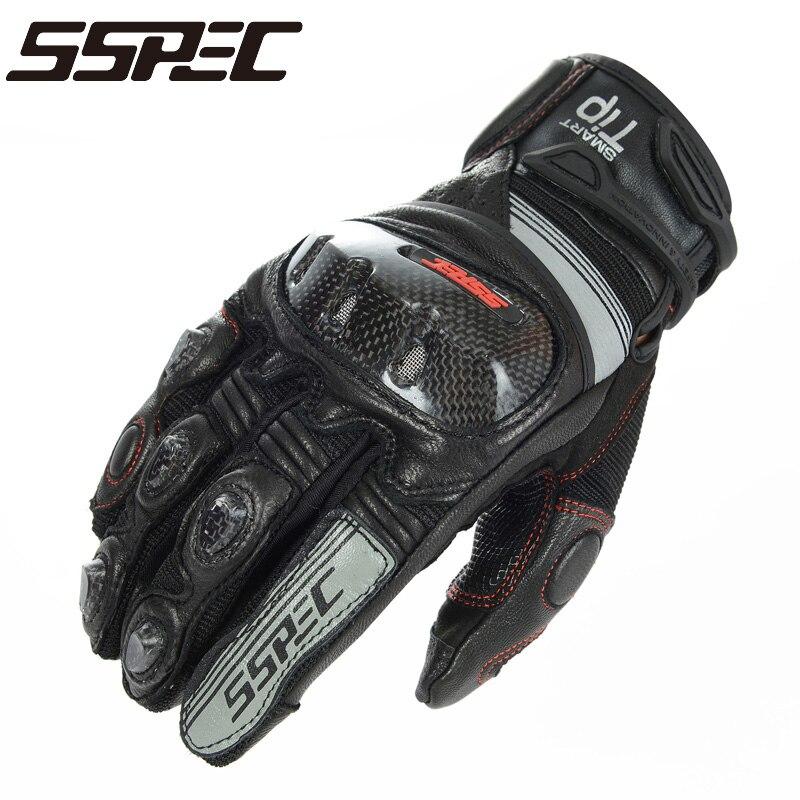 SSPEC <font><b>Motorcycle</b></font> <font><b>Gloves</b></font> black Racing <font><b>Gloves</b></font> Genuine Leather Motorbike <font><b>Gloves</b></font> KOMINE GK193 <font><b>Carbon</b></font> <font><b>Fiber</b></font> knight riding <font><b>glove</b></font> black