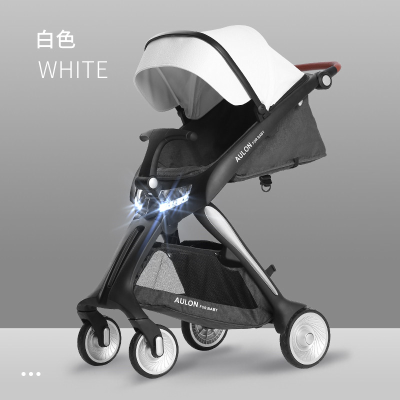 Baby stroller can sit reclining fold light high landscape baby stroller baby four wheel stroller shock absorber 60cm high field Baby stroller can sit reclining fold light high landscape baby stroller baby four wheel stroller shock absorber 60cm high field