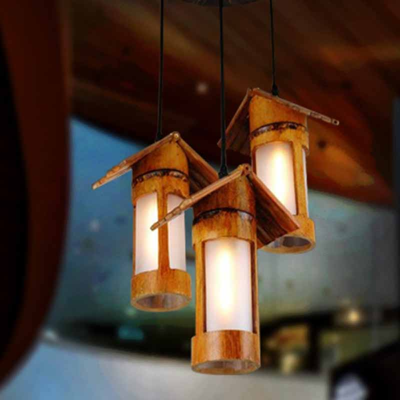 Chandelier Lighting Bamboo Lights Pendant Light Chandeliers Chinese new arrival modern chinese style bamboo wool lamps rustic bamboo pendant light 3015 free shipping