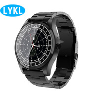 LYKL Smart Watch DT19 Luxury Full Stainless Steel Smart band Support Bluetooth Call Reminder Music Camera for Men Works Business